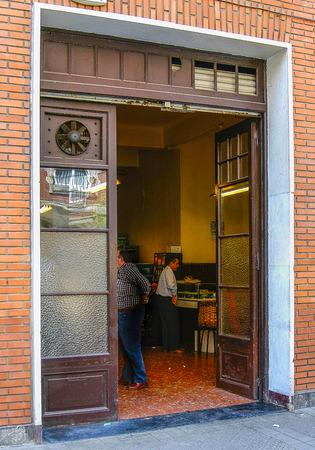 Facade of La Bodeguilla in Bilbao, Vizcaya, Basque Country. Editorial
