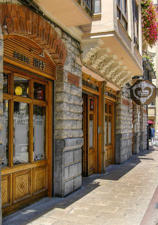 Facade of La Vi?a bar in Bilbao, Vizcaya, Basque Country.