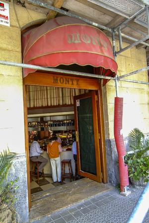 Facade of the Monty bar in Bilbao, Vizcaya, Basque Country. Stock Photo