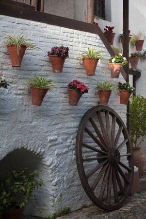 Posada del Potro - Centro de flamenco de Fosforito, is Andalusian traditional patio in Cordoba. Stock Photo