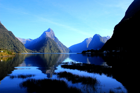 fjords: Fjords - Milford Sound, New Zealand Stock Photo