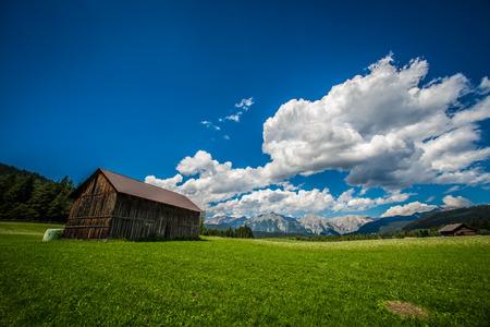 beautiful view on the Gehrenspitze in Seefeld in Tirol