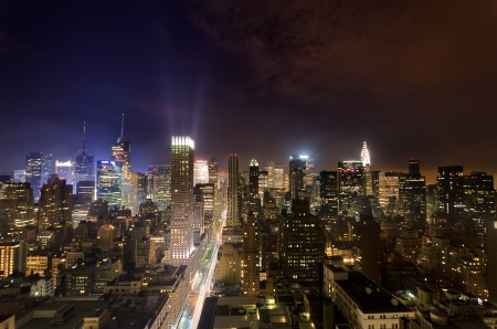 Fifht Avenue and Midtown at night Stock Photo