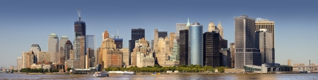 Best views of Manhattan from the bay Stock Photo