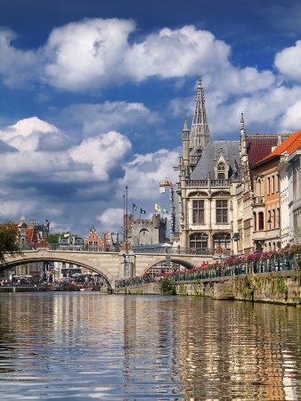 The historic city of Ghent prospered thanks to the commercial activity of its canals