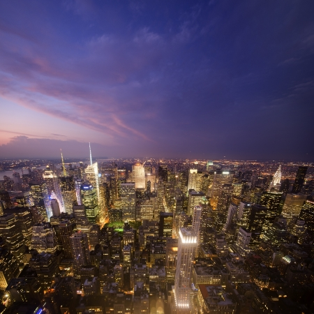 Aerial view of Midtown Manhattan from the Empire State Building Stock Photo