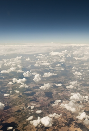 View of Texas from the plane Stock Photo