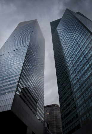 High glass towers in New York Stock Photo