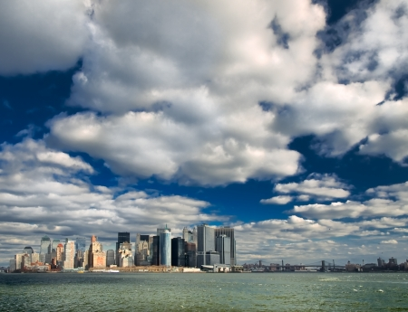Outstanding skyscrapers from the New York Bay Stock Photo