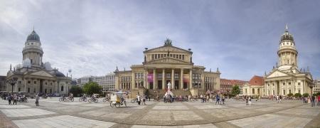 Panoramic view of Gendarmenmarkt, in Berlin Editorial