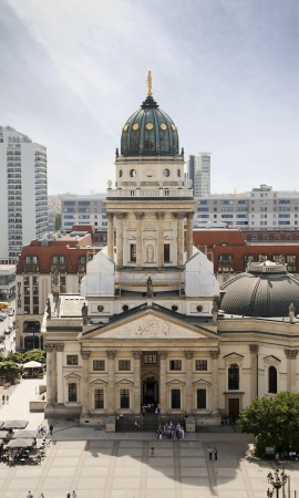 Church located in Gendarmenmarkt, Berlin Stock Photo