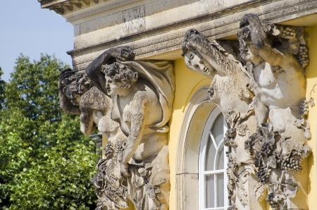 Statues of the Palace of Sanssouci, in Potsdam