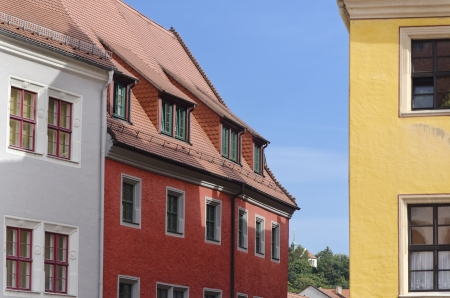 Colorful Houses in the Historic Center of Meissen