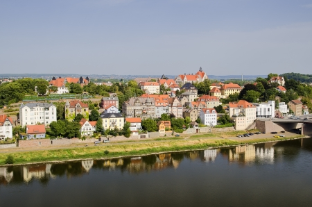 View of Meissen by the River Elbe