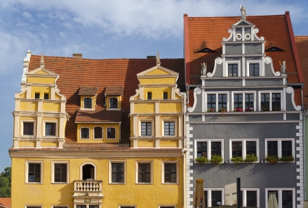 Colorful Houses in the Markt of Meissen