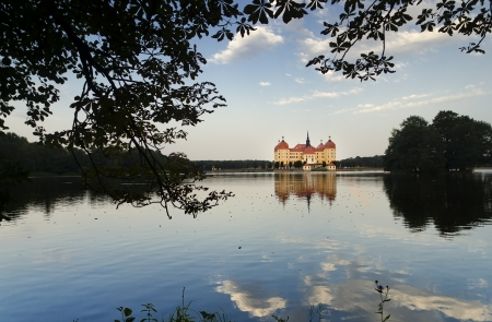 Moritzburg Castle reflects on the Waters of the Lake