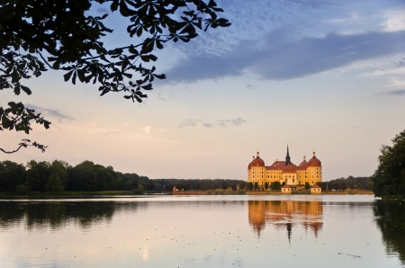Cloudy Sunset at Moritzburg Castle