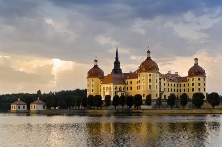 Moritzburg Castle at Sunset