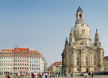 Frauenkirche or Church of Our Lady, in the center of Dresden