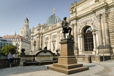 View of the Historic Center of the City of Dresden from Br