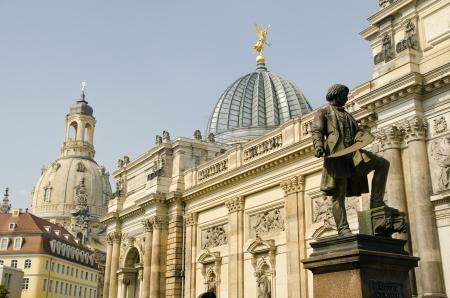 Statue of Gottfried Semper  Standing in the Center of Dresden