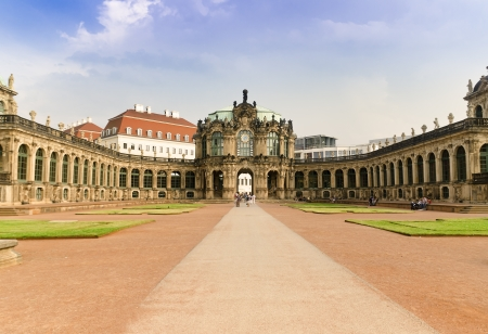 The Zwinger is a Rococo Palace in the City of Dresden