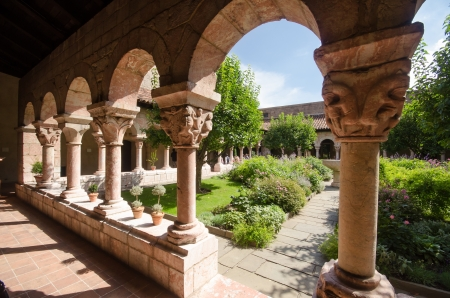 Garden of the Cloisters Museum in New York photo