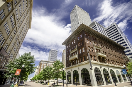 Historic Downtown Tulsa Stock Photo