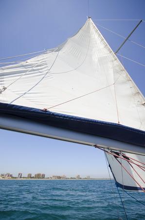 Sailing Ship on a Summer Morning Stock Photo