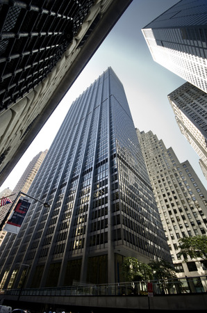 Skyscrapers in the financial district, Manhattan Editorial