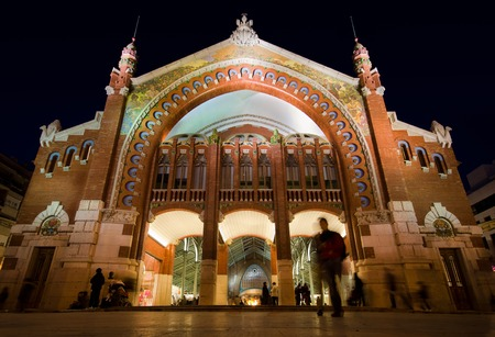 Columbus Market is an Example of Modernist Architecture in Valencia, Spain