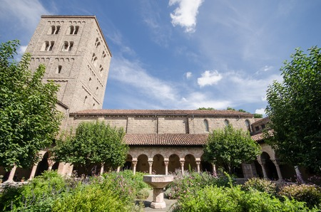 Garden of the Cloisters Museum in New York Editorial