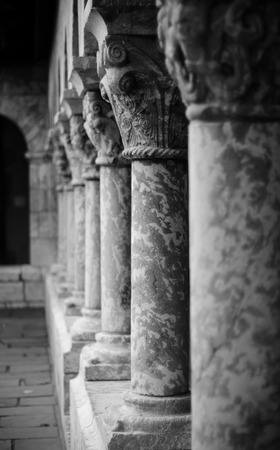 Columns of the Cloisters in New York photo