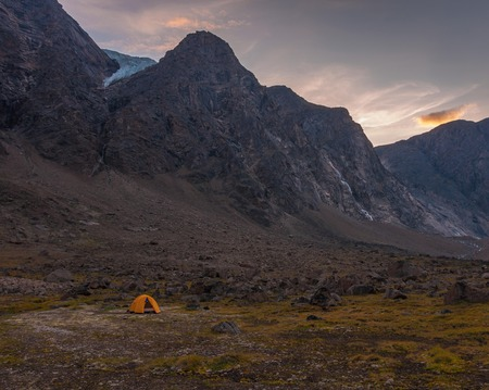 Base camping in Auyuittuq National Park scenery, Nunavut, Canada. 3/3