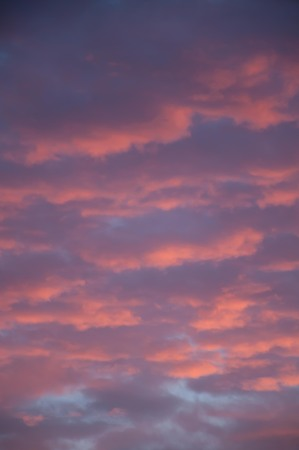 dramatic clouds: Sunset from home pic 1.