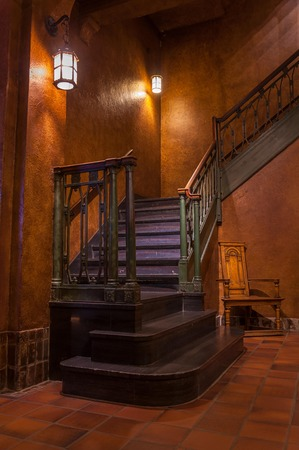 Staircase in a castle.