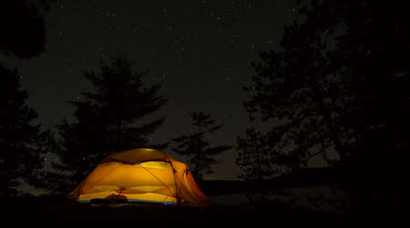 Peacefully sleeping in my tent