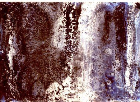 Photographic film reel 2. Deteriorated. Colour.