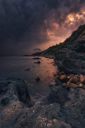 This image was taken at the Elba Island, a island of Italy. You see how a thunderstorm is approaching the coast.