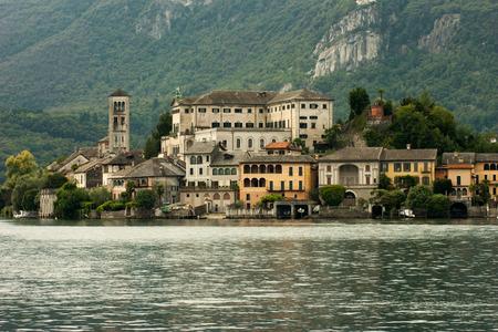orta: lake in lumbar and piedmont Italy Stock Photo