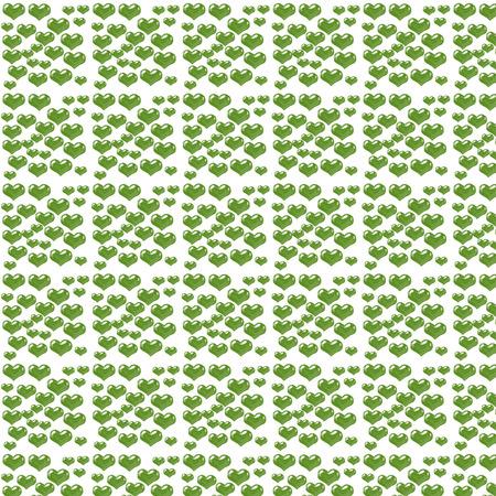 Digital green hearts paper