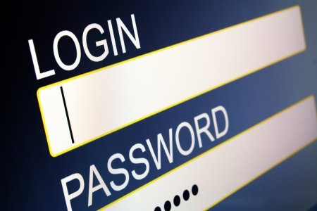 computer screen with security access for login Stock Photo - 17923034