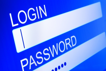computer screen with security access for login Stock Photo - 17923036