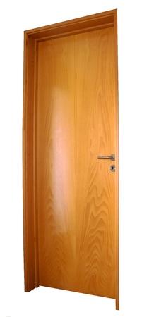 locked door: Macro from ao isolated wood door