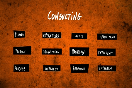 Consulting diagram in orange photo