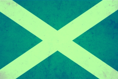 scotish: Scotland vintage flag Stock Photo