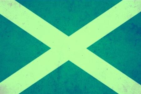 scotish: Scotland vintage flag Stock Photo