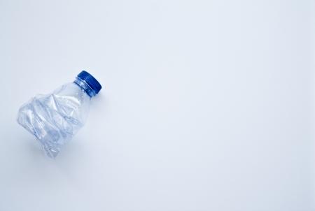 crushed plastic bottle  photo
