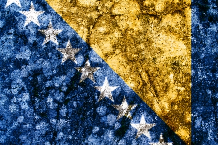 bosnia grunge flag photo