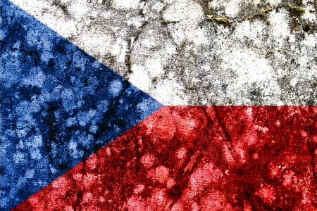 czech republic grunge flag photo